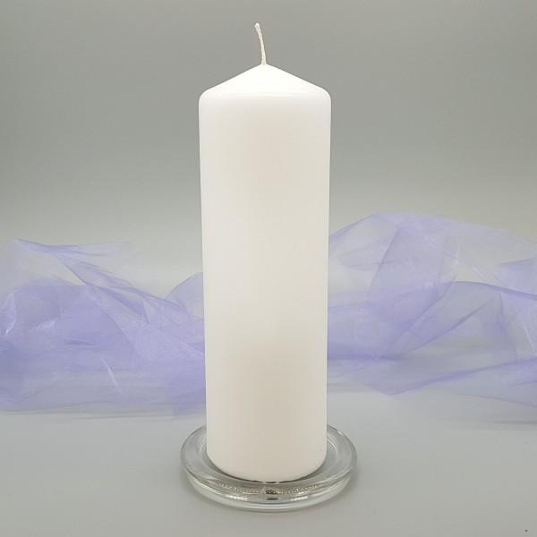 Kerzenteller Glas oder Schieferplatte