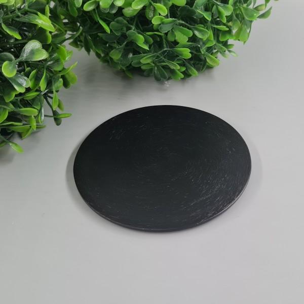 Kerzenteller Schwarz 10cm ∅
