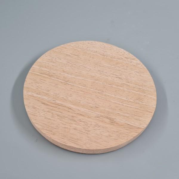 Kerzenteller Holz 10cm natur