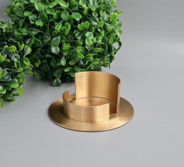 Kerzenständer für Kommunionkerze gold matt Ø 6 cm flach