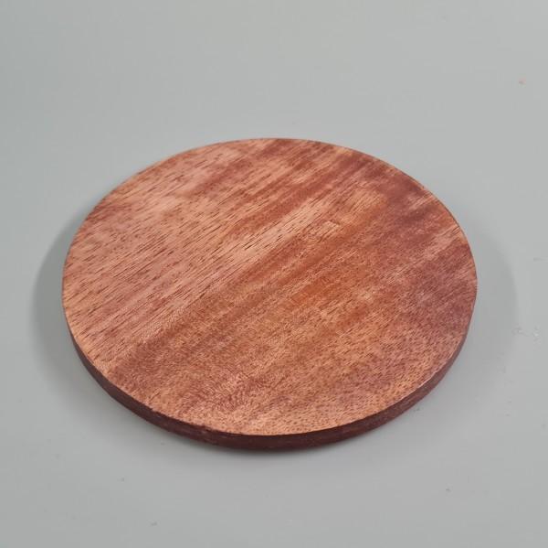 Kerzenteller Holz 10cm dunkel