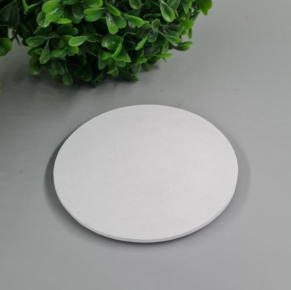 Kerzenteller Weiß 10cm ∅