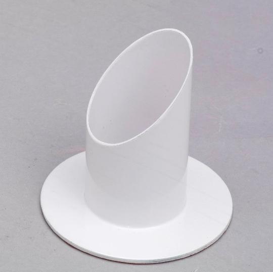 Kommunionkerze Kerzenhalter weiß Ø 5 cm