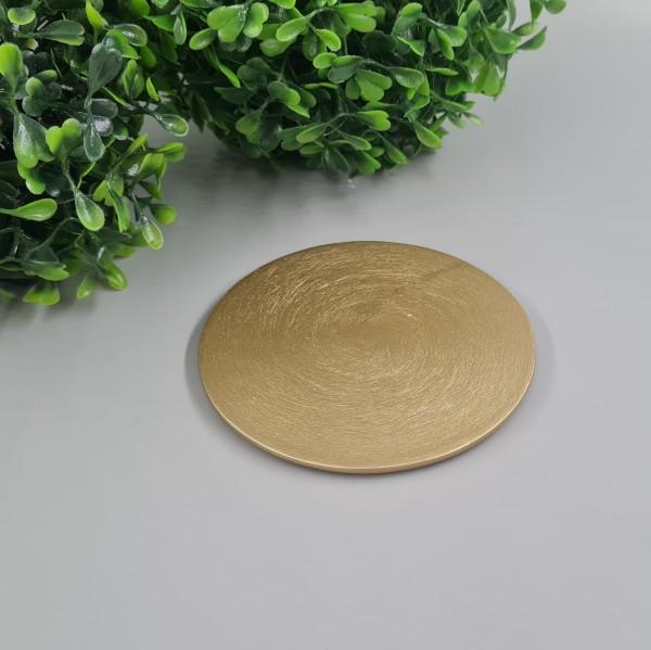 Kerzenteller Gold 10cm ∅
